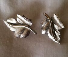 Vintage, Bergere Silver Tone Earrings. Good quality. Signed. Well made.