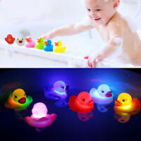 Cute LED Flashing Light Duck Toys Baby Kids Bathtub Bathing Shower Floating Toy