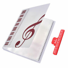 40 SHEETS WATERPROOF A4 PIANO SCORE BAND CHORAL INSERT-TYPE MUSIC BOOK FOLDERS