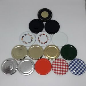 Jam Jar Lids in a wide range of colours and sizes
