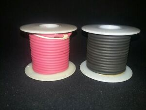 Belden  20 awg Red and Black test lead wire 5,000V  25 ft. Spools of each color