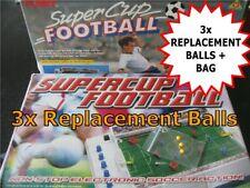 3x Balls - TOMY SUPER CUP FOOTBALL SPARES - 3 x Footballs + Bag - GAME SPARES #O
