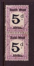 SOUTH WEST AFRICA....  POSTAGE DUE  1927 5d  vertical pair used....cat val £85