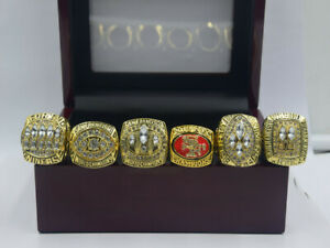 6PCS 1981 1984 1988 1989 1994 2012 San Francisco 49ers World Championship Ring .