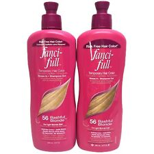 2 Pack! Fanci-Full Temporary Hair Color Rinse 56 Bashful Blonde LIght Blond PINK