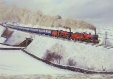LMS BR Jubilee Compound Railway Engine Loco Steam Train Christmas Xmas Card
