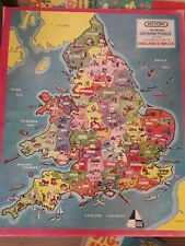 Vintage VICTORY Plywood JIGSAW PUZZLE of INDUSTRIAL LIFE IN ENGLAND AND WALES