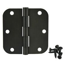 "Cosmas Oil Rubbed Bronze Door Hinges 3.5"" with 5/8"" Radius 37540"