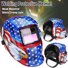 Solar Auto Darkening Welding Helmet Arc Tig Mig Grinding Welder Hood Flame
