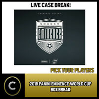 2018 PANINI EMINENCE WORLD CUP SOCCER BOX BREAK #S001 - PICK YOUR PLAYER -