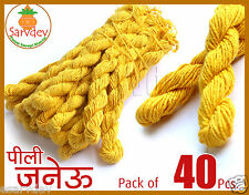Janvai Janev Janeu Yagyopavit ✓Yellow Sacred Holi Thread 40 Pcs ✓Wearable Size