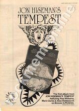 John Hiseman's Tempest Allan Holdsworth MM3 LP ILPS 9220 advert 1973