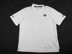 Mississippi State Bulldogs adidas Polo Shirt Men's White Clima-lite New XLarge