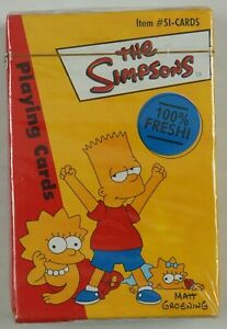 the Simpsons Playing Cards NEW SEALED 52 card deck with quotes HOMER BART 2000