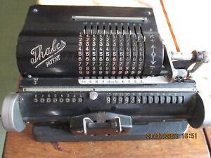 Seltener Typ antike Rechenmaschine von Thales Patent Mechanisch