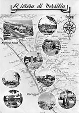 Cartolina - Postcard - Versilia - Riviera - Cartina con località - vedutine