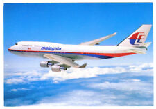 1980s MALAYSIA  Airlines Issued Boeing B-747-400 Postcard
