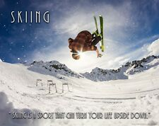 Freestyle Skiing Motivational Poster Art Print Downhill Snowboarding Club MVP649