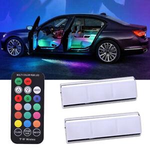 RGB LED Car Interior Accessories Decorative Atmosphere Ambient Floor Lamp Light