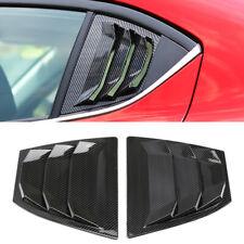 Carbon Fiber Style Rear Window Shutter Cover Trim 2pcs For Mazda 3 / Axela 14-18