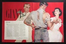 1952 Joe De Mers illustration Giant Edna Ferber 1950's vintage magazine pages