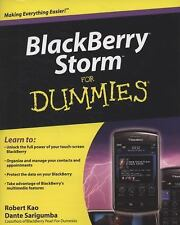 NEW - BlackBerry Storm For Dummies by Kao, Robert; Sarigumba, Dante