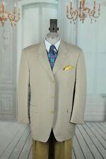 Canali Men's British Tan All Season Wool Sport Coat Blazer 46L 46 L