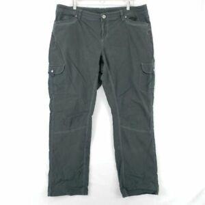 Kuhl Womens Splash Hiking Roll Up Cargo Pants Gray Stretch Pockets Plus 20W