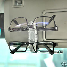 Durable Car Vehicle Sun Visor Double Sunglasses Eye Glasses Card Pen Holder Clip