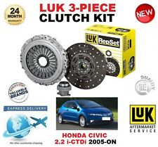 Para HONDA CIVIC VIII FN FK FK3 2.2 ictdi 2005-ON 140BHP Kit de embrague LUK 3 Pieza