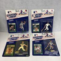 STARTING LINEUP 4 FIGURES LOT baseball 1989 Don Mattingly Mark McGuire More