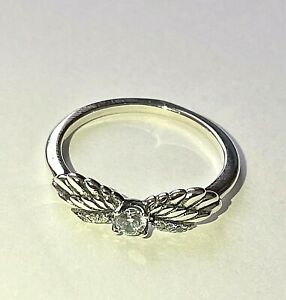PANDORA SPARKLING ANGEL WINGS RING,  S925 ALE,ALL SIZES, STERLING SILVER