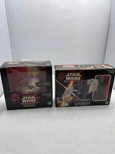 """Anakin Skywalker 12""""  Star Wars Episode 1 Hasbro + Darth Maul Sith Speeder New"""
