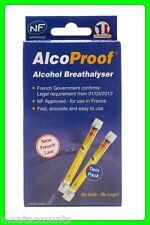 Alcoproof ALCOHOLÍMETRO Twin Pack Kit [ alcnftwin ] de la UE aprobó Alcoholemia Tester