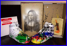 MR BRAINWASH NIKE AIR FORCE ONE AFO Shoes Mona Lisa Painting 1 OF A KIND Banksy