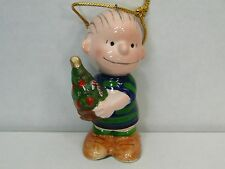 Linus with Xmas Tree Ceramic Ornament 1952 United Feature Syndicate Inc Japan