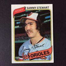 1980 Topps SAMMY STEWART #119  Baltimore Orioles