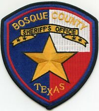 BOSQUE COUNTY TEXAS TX colorful SHERIFF POLICE PATCH