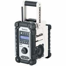 Makita DMR109W DAB Radio Jobsite Radio Cordless Bianco o rete elettrica