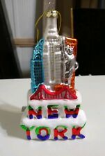 Christmas In New York Blown Glass Ornament 6