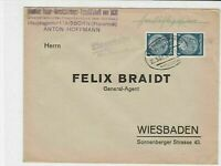 german 1937 bahnpost railway cancel stamps cover  ref 18817