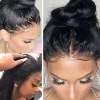 Glueless Full Lace Wig 100% Remy Peruvian Human Hair Straight Wavy Long Wigs heq