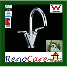 Sale WELS Watermark 1/4 Turn Swivel Brass Chrome Vanity Basin Mixer Tap RC-1305