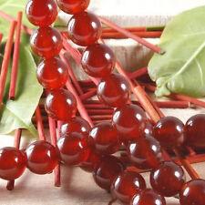 8 mm Perles , rouge, pierre précieuse, rond, lâche, 38cm