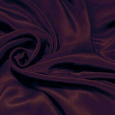 "0.5 Meter 45"" wide 12mm Pure Silk Crepe De Chine Fabric Raisin # 793 +button"