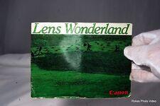 Canon Lens Wonderland Canon FD Lens Guide Book List (EN) AE-1 A-1 F-1