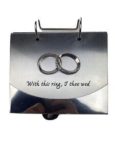 Malden International Designs Wedding Rings Photo Flip Album 4 x6