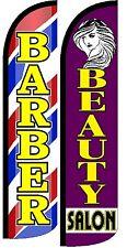 Barber Beauty Salon Windless Standard Size  Swooper Flag Sign Banner Pk of 2