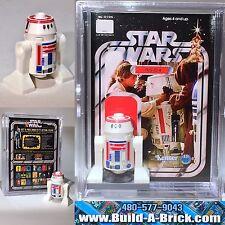 Star Wars R5-D4 custom MINIFIGURE w/ Display Case & lego stand 120