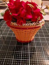 Longaberger Miniature Jw Geranium Signed Basket (May Series Collection)